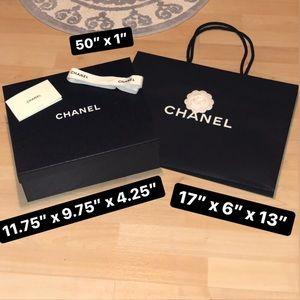 CHANEL Shoe Box, Shopping Bag & Ribbon